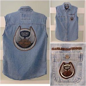 HD 105th Anniversary Sleeveless Denim Shirt